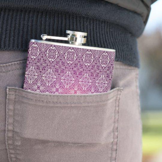 Floral luxury royal antique pattern hip flask