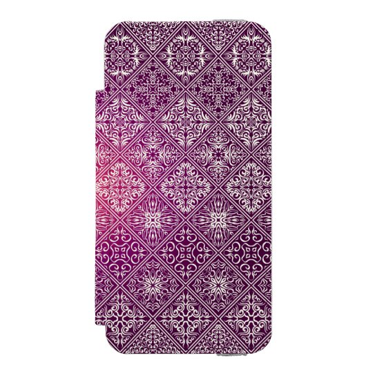 Floral luxury royal antique pattern incipio watson™ iPhone 5 wallet case