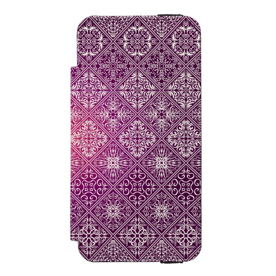 Floral luxury royal antique pattern incipio watson™ iPhone 5 wallet case