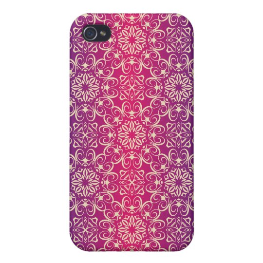 Floral luxury royal antique pattern iPhone 4/4S cover