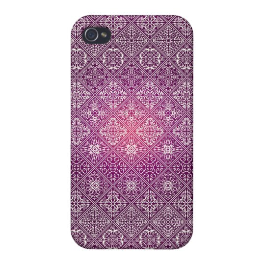 Floral luxury royal antique pattern iPhone 4 covers