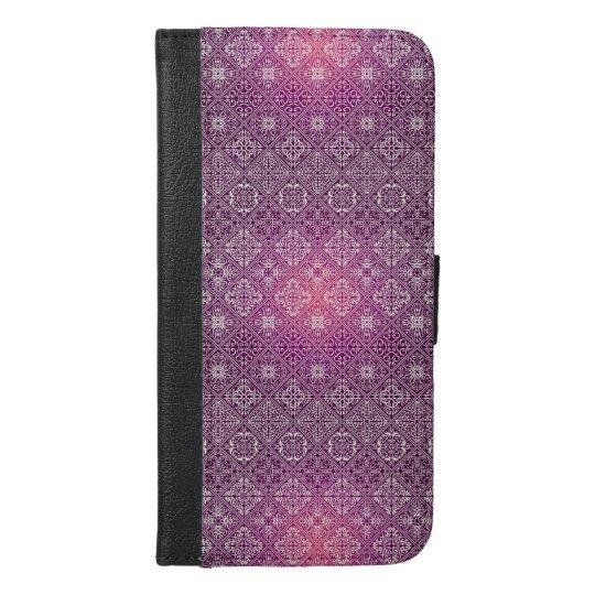 Floral luxury royal antique pattern iPhone 6/6s plus wallet case