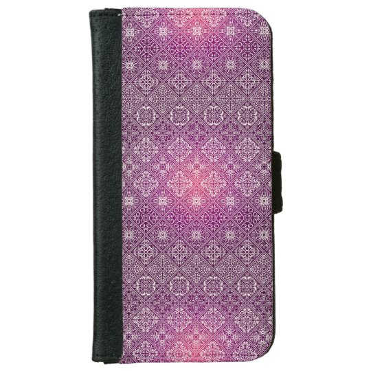 Floral luxury royal antique pattern iPhone 6 wallet case