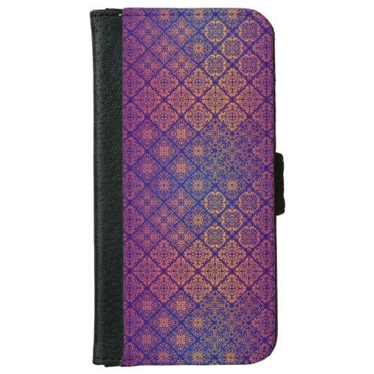 Floral luxury royal antique pattern iPhone 6 wallet case