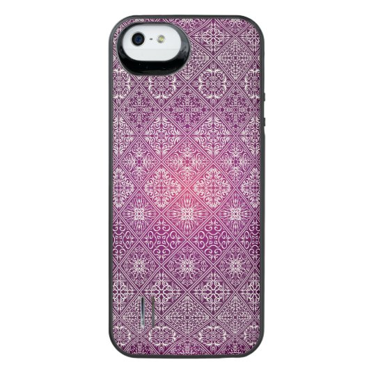 Floral luxury royal antique pattern iPhone SE/5/5s battery case