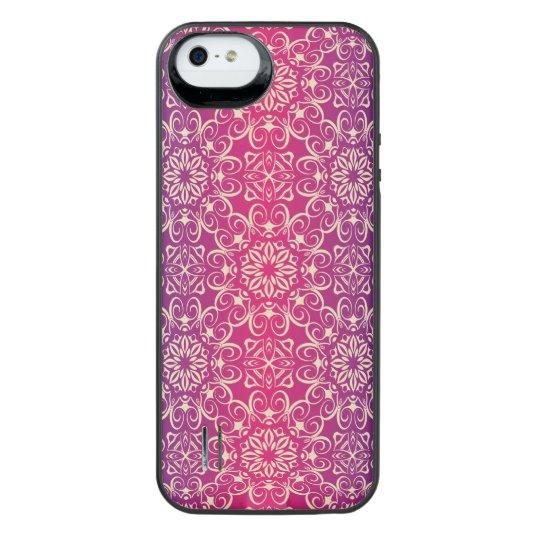 Floral luxury royal antique pattern iPhone SE/5/5s battery case