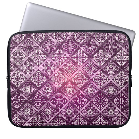 Floral luxury royal antique pattern laptop sleeve