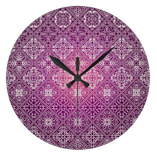 Floral luxury royal antique pattern large clock