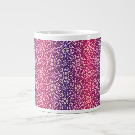 Floral luxury royal antique pattern large coffee mug