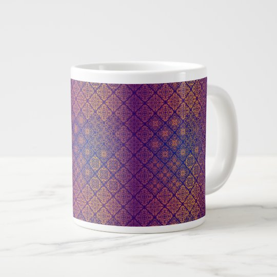 Floral luxury royal antique pattern large coffee mug