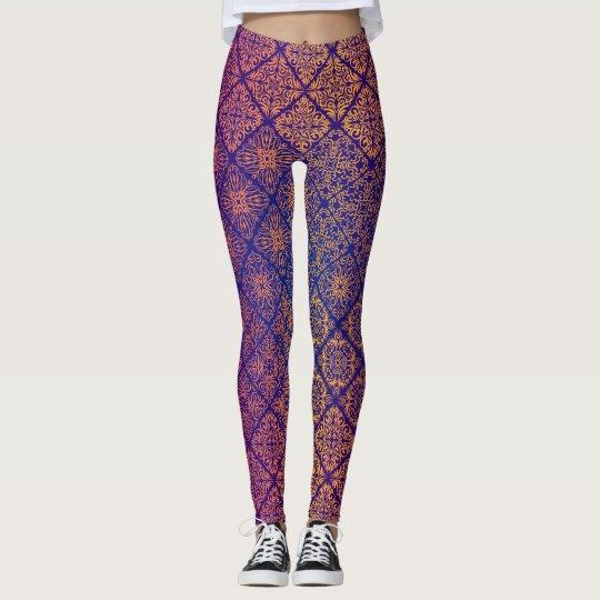 Floral luxury royal antique pattern leggings