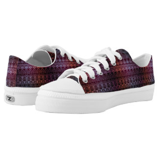 Floral luxury royal antique pattern low tops