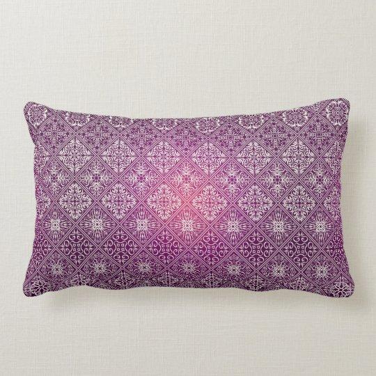 Floral luxury royal antique pattern lumbar cushion