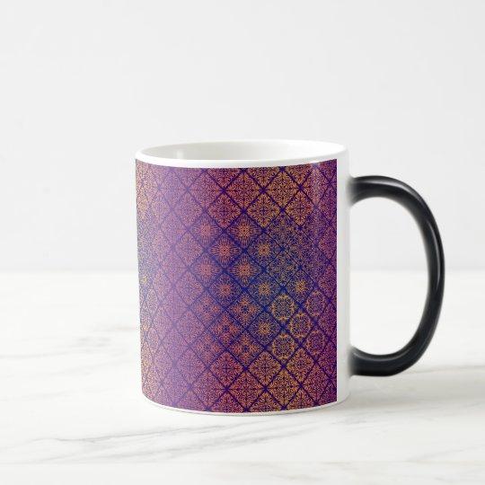 Floral luxury royal antique pattern magic mug