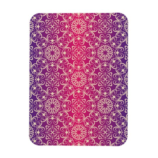 Floral luxury royal antique pattern magnet