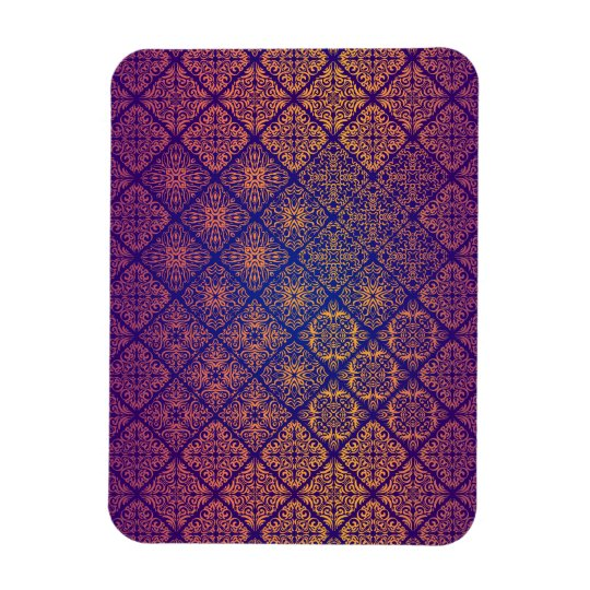 Floral luxury royal antique pattern magnet