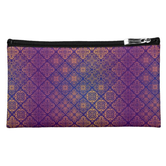 Floral luxury royal antique pattern makeup bag