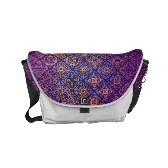Floral luxury royal antique pattern messenger bag