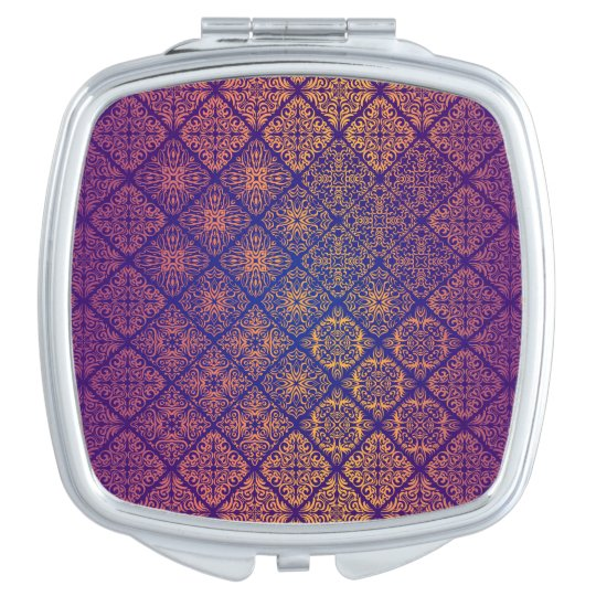 Floral luxury royal antique pattern mirror for makeup