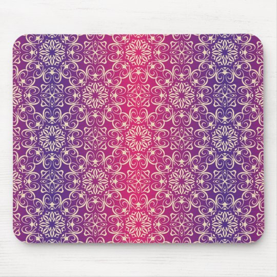 Floral luxury royal antique pattern mouse pad