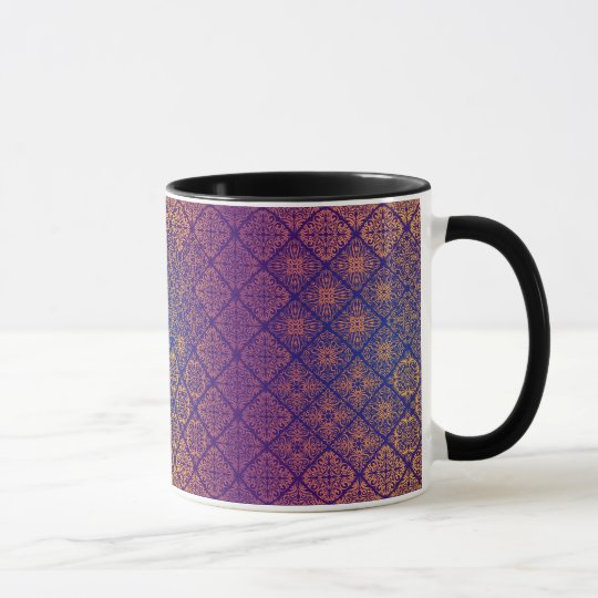 Floral luxury royal antique pattern mug