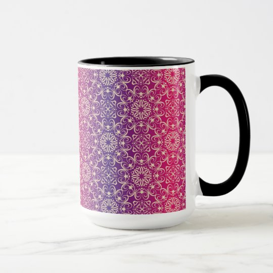Floral luxury royal antique pattern mug
