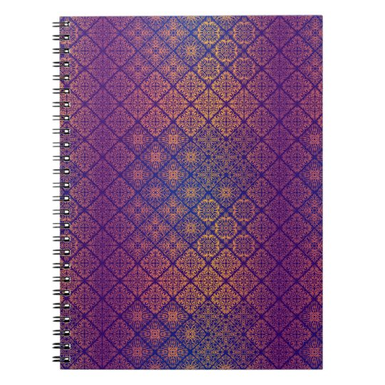 Floral luxury royal antique pattern notebooks