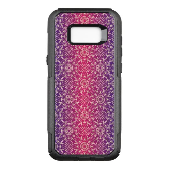 Floral luxury royal antique pattern OtterBox commuter samsung galaxy s8+ case