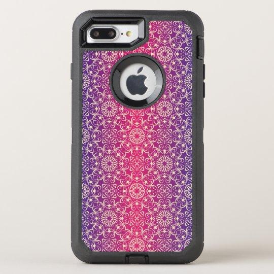 Floral luxury royal antique pattern OtterBox defender iPhone 8 plus/7 plus case