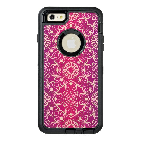 Floral luxury royal antique pattern OtterBox defender iPhone case