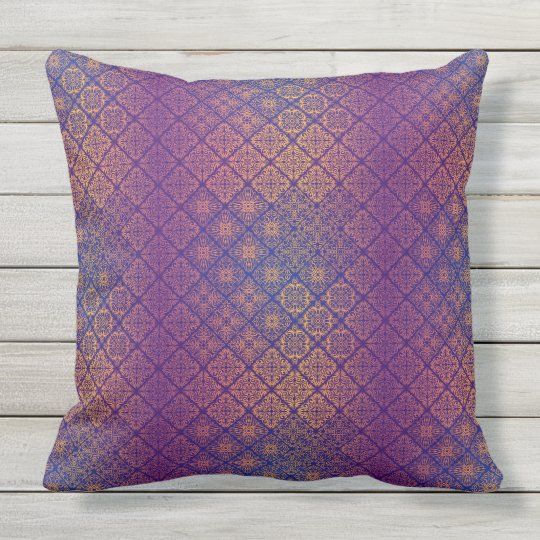 Floral luxury royal antique pattern outdoor cushion