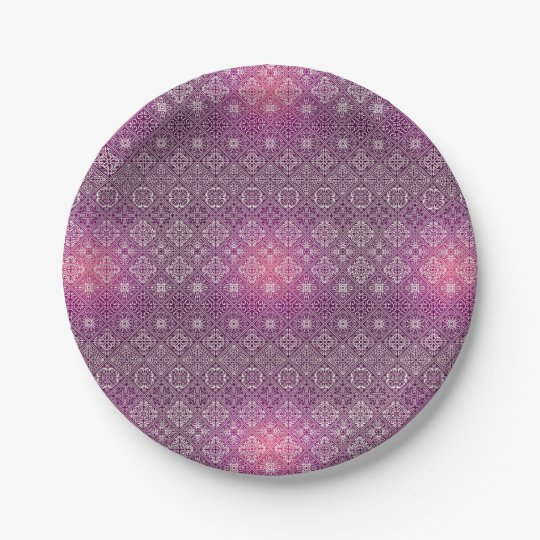 Floral luxury royal antique pattern paper plate
