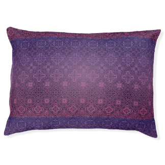 Floral luxury royal antique pattern pet bed