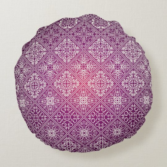 Floral luxury royal antique pattern round cushion