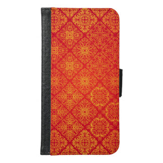 Floral luxury royal antique pattern samsung galaxy s6 wallet case