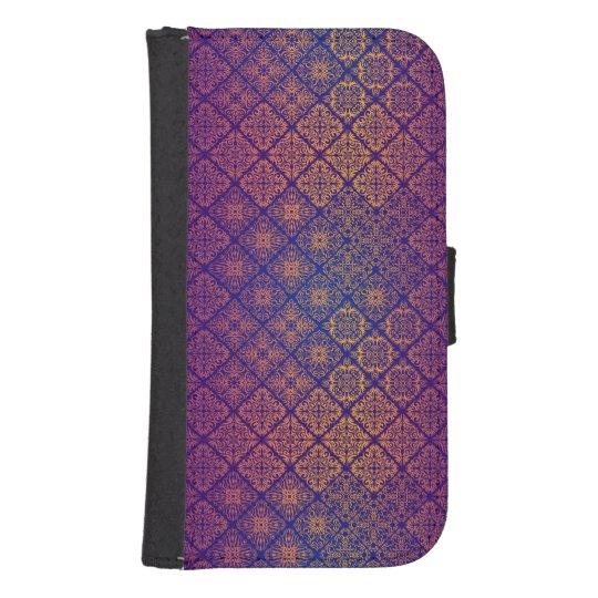 Floral luxury royal antique pattern samsung s4 wallet case