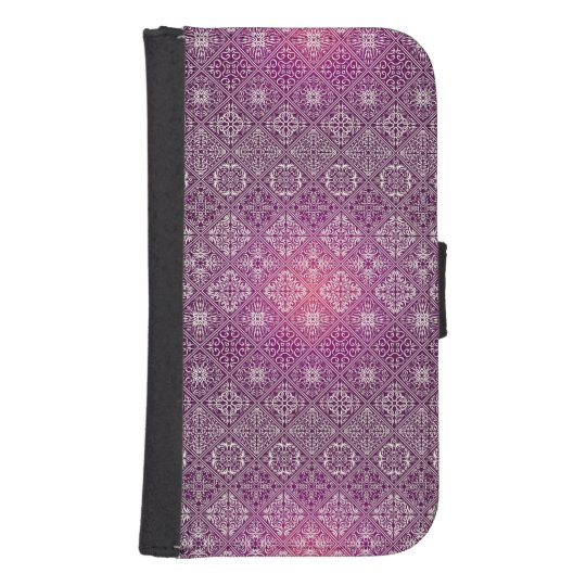 Floral luxury royal antique pattern samsung s4 wallet case