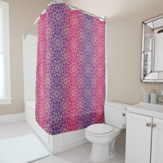Floral luxury royal antique pattern shower curtain