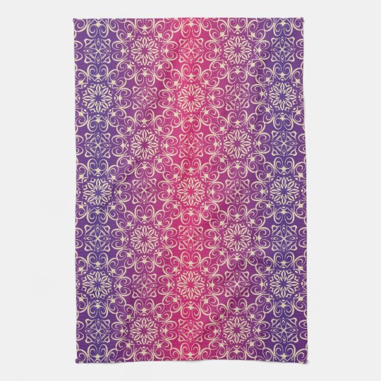 Floral luxury royal antique pattern tea towel