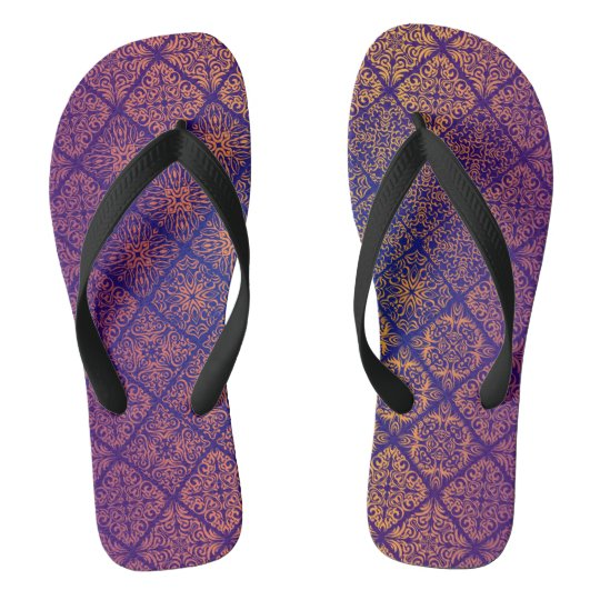 Floral luxury royal antique pattern thongs