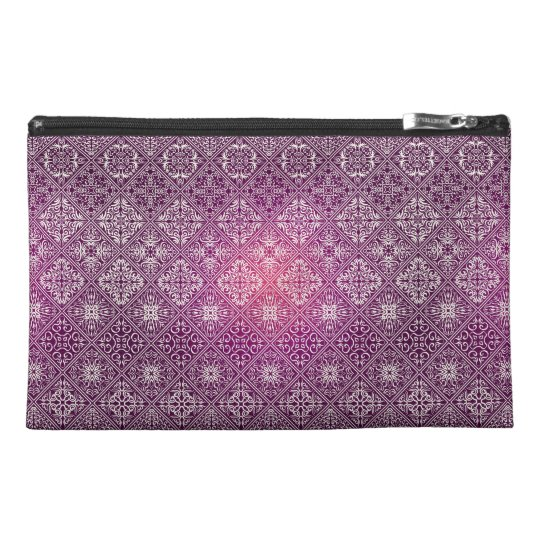 Floral luxury royal antique pattern travel accessory bag