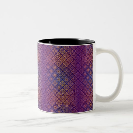 Floral luxury royal antique pattern Two-Tone coffee mug