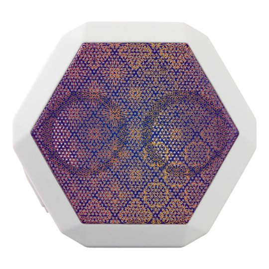 Floral luxury royal antique pattern white bluetooth speaker