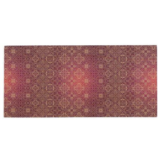 Floral luxury royal antique pattern wood USB flash drive
