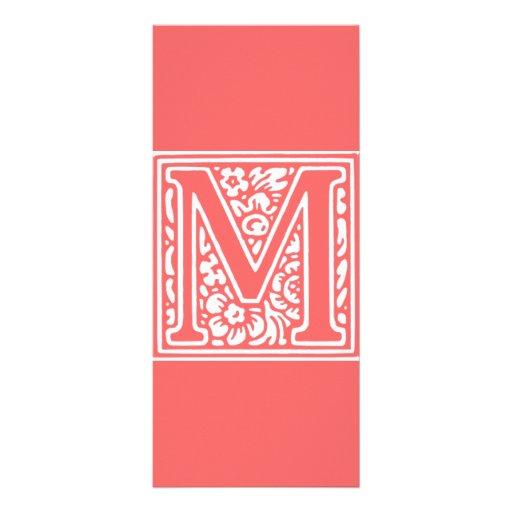 "Floral ""M"" Monogram Rack Cards"