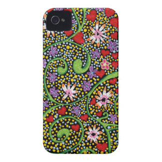 floral magic of love and creation in black Case-Mate iPhone 4 case