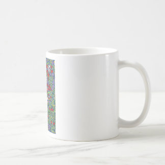 floral magic of love and creation in blue basic white mug