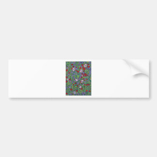 floral magic of love and creation in blue bumper sticker