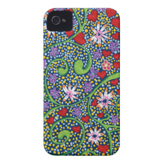 floral magic of love and creation in blue iPhone 4 covers