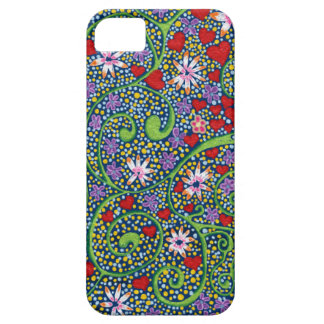 floral magic of love and creation in blue iPhone 5 case